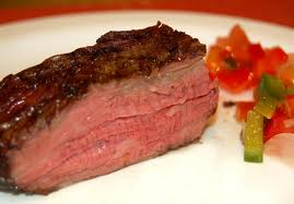 Medium rare swiss rump steak recipe
